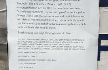 Fahrrad geklaut in Berlin