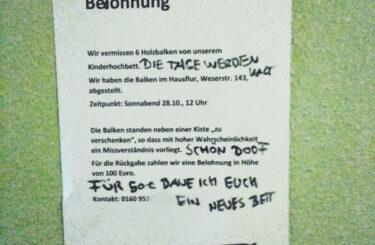 Diebstahl Nachbarschaft Berlin