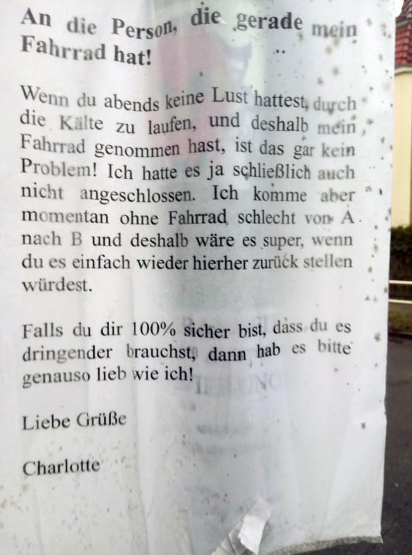 Fahrrad gestohlen Berlin