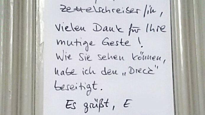 Nachbarn Zettel Berlin
