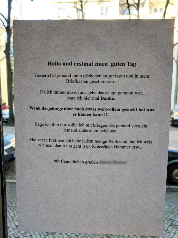 Zettel Berlin