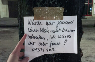 Weihnachtsbaum umsonst Berlin