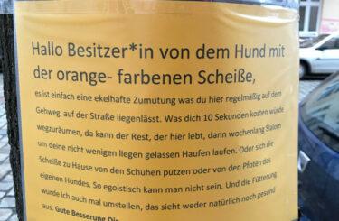 Wut Hundescheisse Berlin