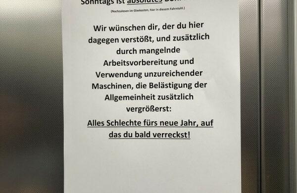 Bohrverbot Sonntag