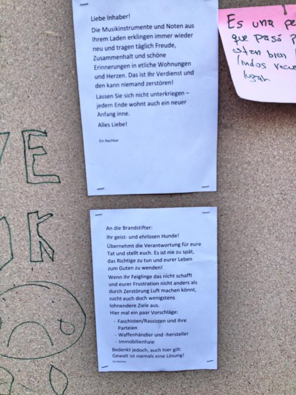 Erich Bading Musikhanldung Brandanschlag Berlin