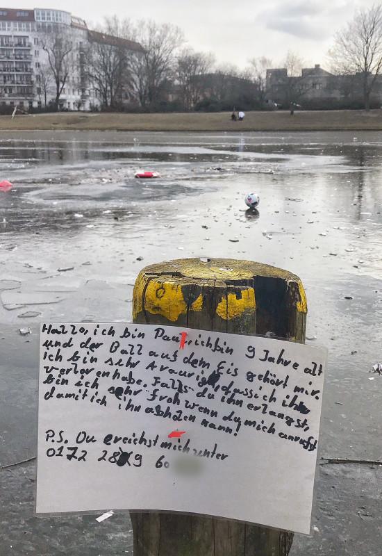 Landwehrkanal zugefroren Berlin