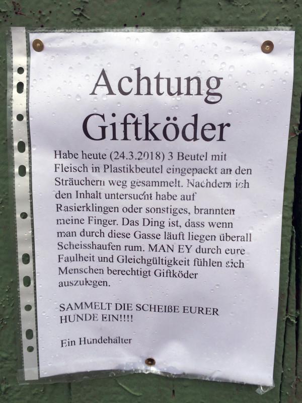 Giftköder Hunde Berlin