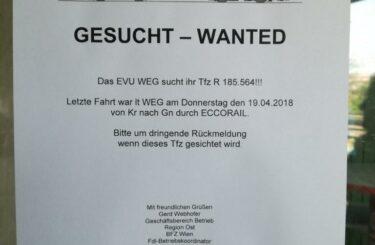 In Österreich wird eine Lokomotive vermisst