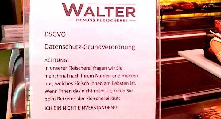 DSGVO Metzgerei Fleischer