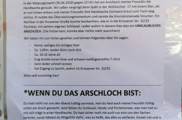 Handtaschendiebstahl Berlin