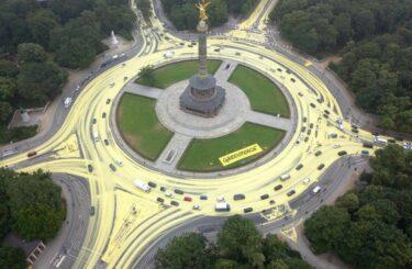 Greenpeace Siegessäule Berlin gelb