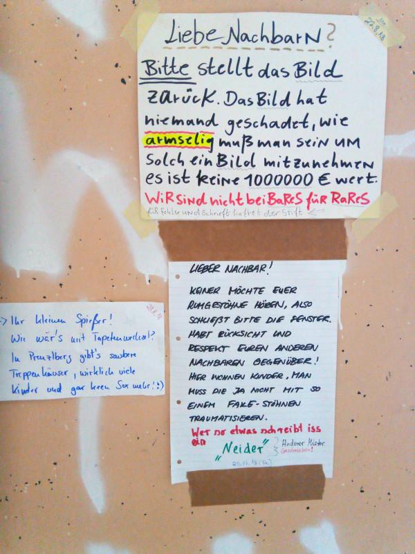 Zettelkommunikation Berlin
