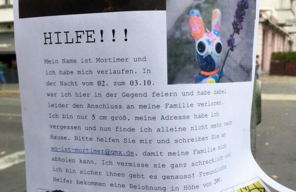 Kuscheltier verloren Berlin