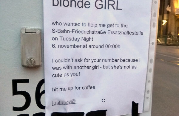 blonde girl in berlin