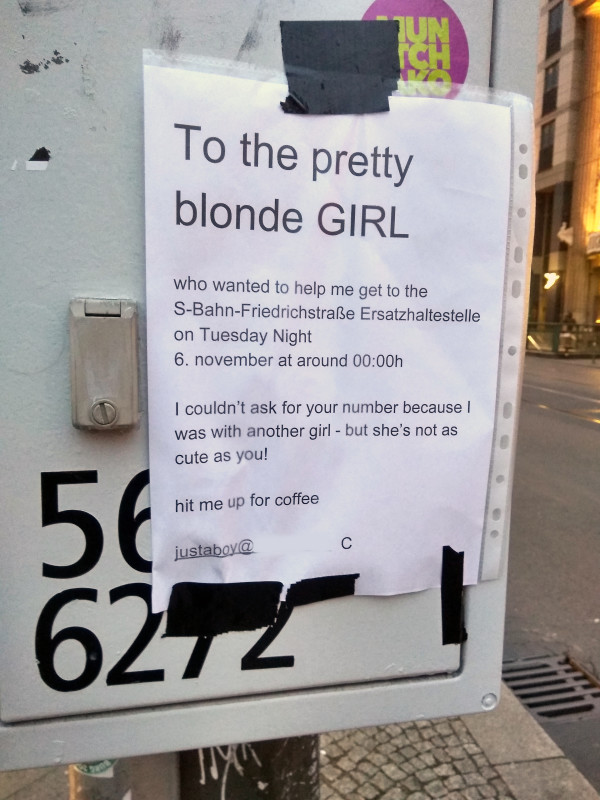 blonde girl in berlin