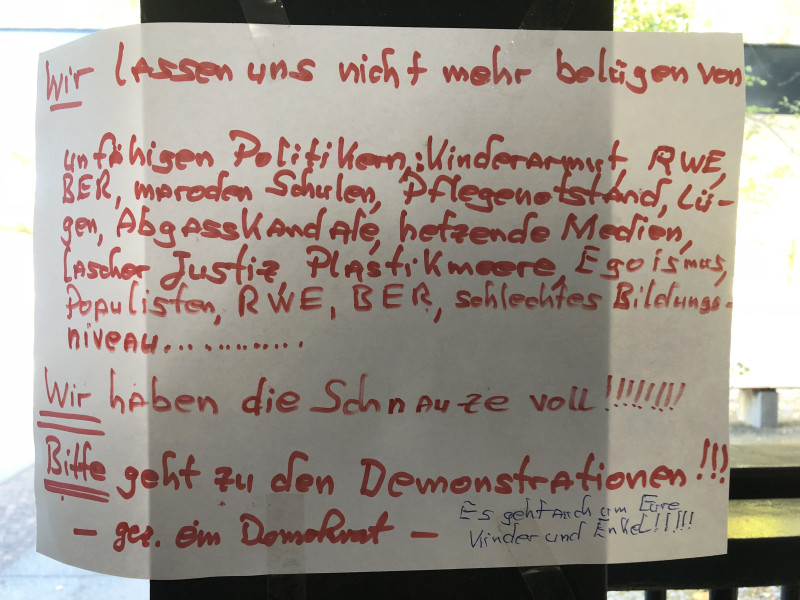 demonstrieren in berlin