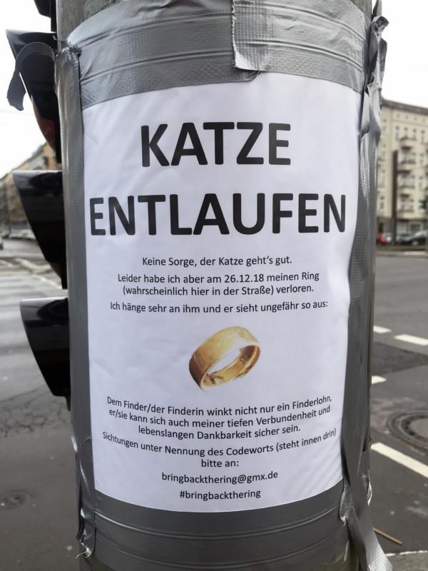 Zettel in Berlin