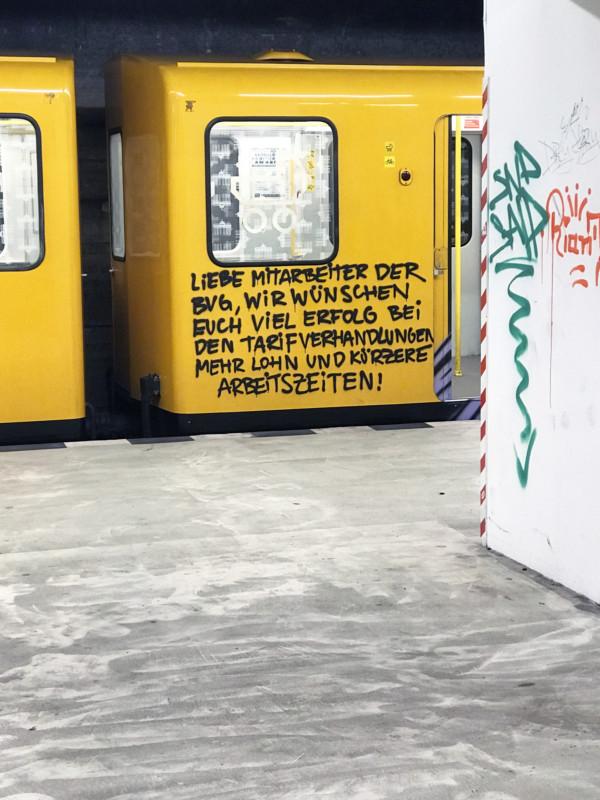 BVG Mitarbeiter Streik