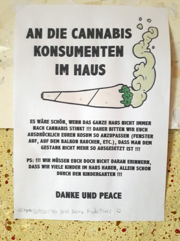 Cannabis Geruch Wohnung Haus