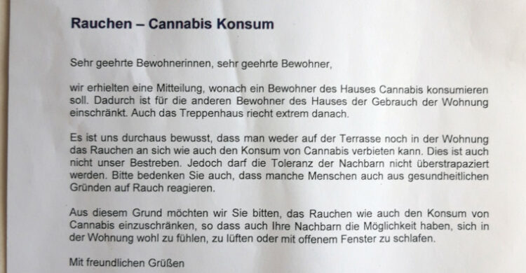 Cannabis Geruch Nachbarn