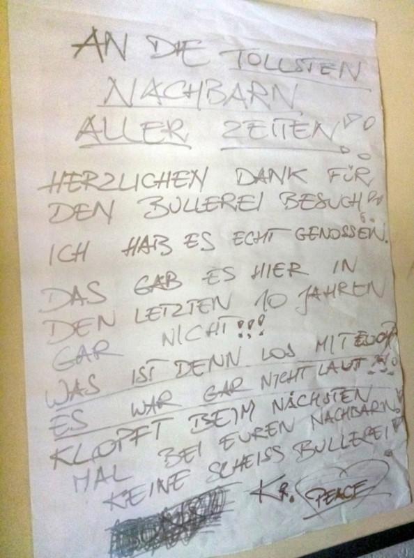 Party Ruhestörung Polizei
