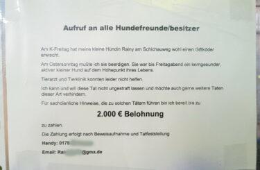 Giftköder Hund Berlin