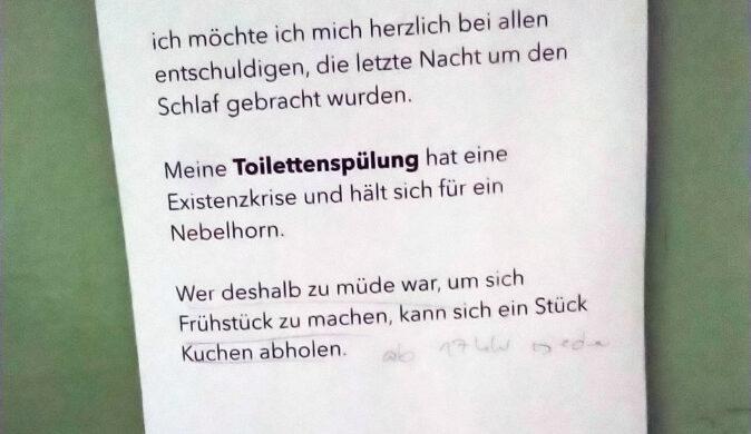 Kaputtes WC
