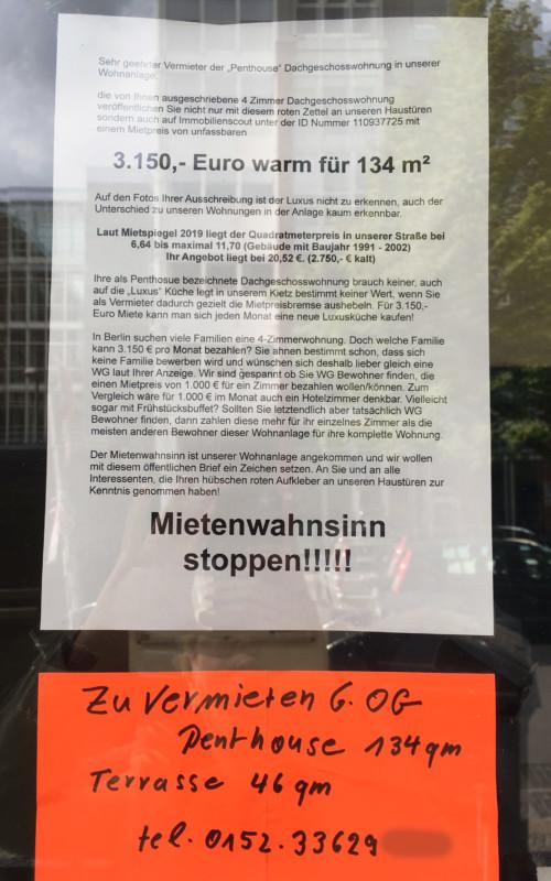 Mietenwahnsinn Berlin