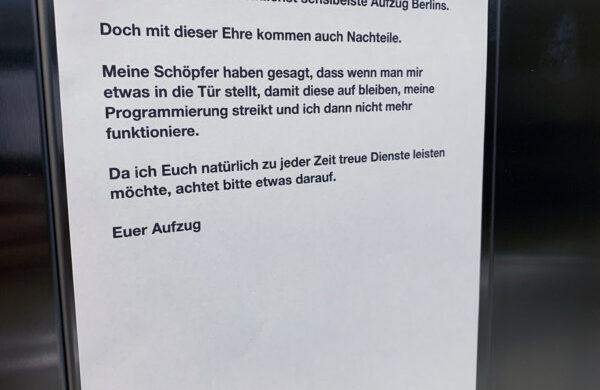 Aufzug Berlin