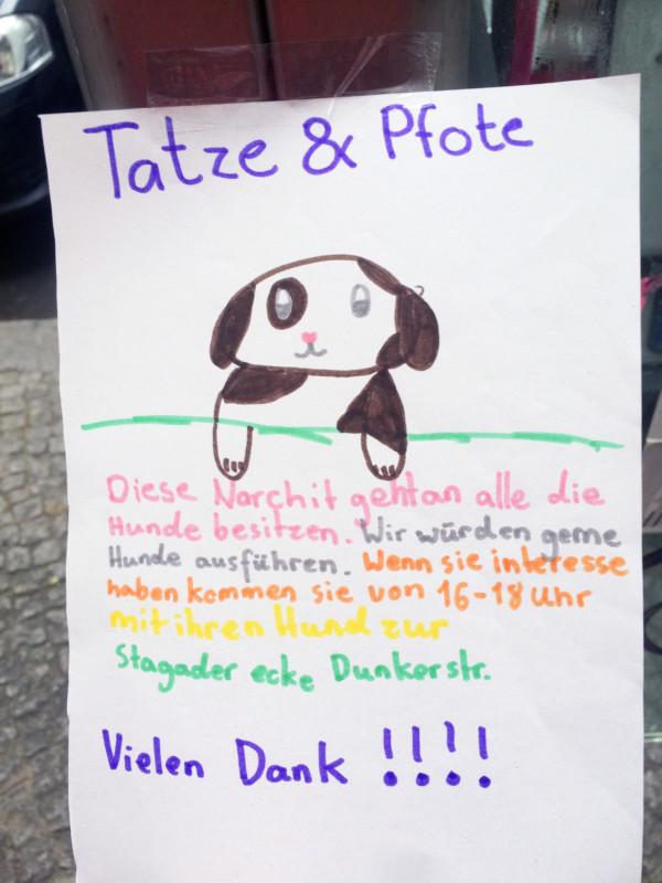 Hunde ausführen Berlin