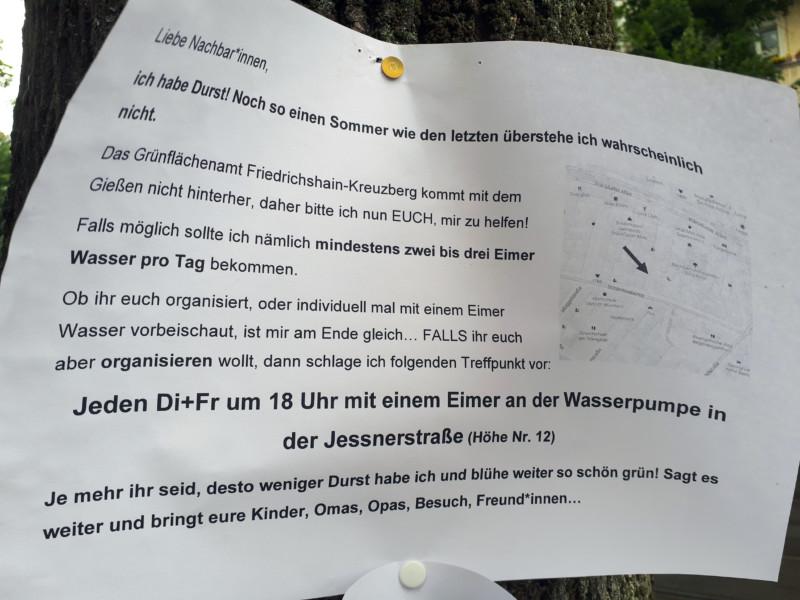 bäume gießen in berlin
