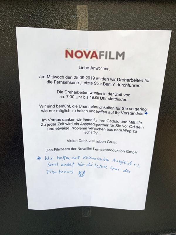 Filmdreh Berlin
