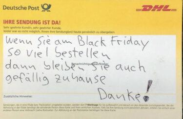 Black Friday DHL