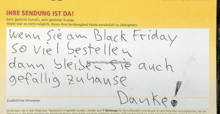 Black Friday DHL
