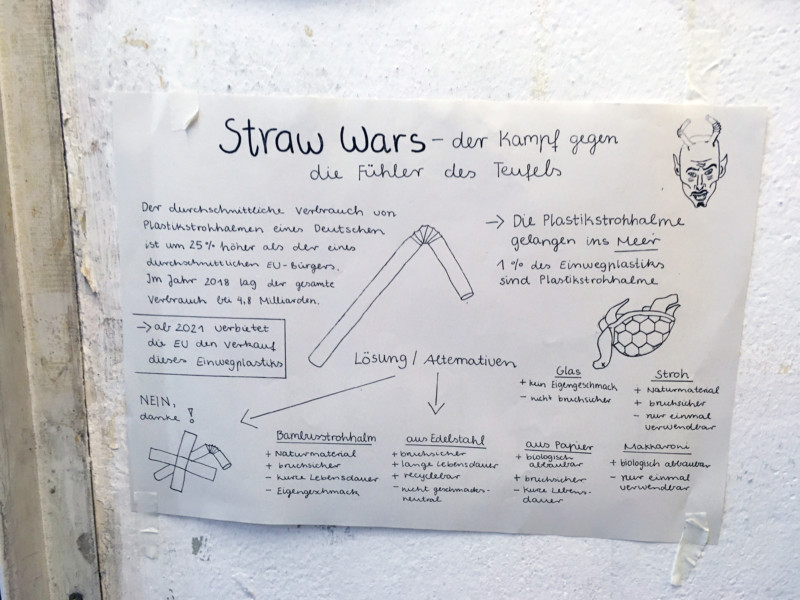 Alternativen zu Plastik Strohhalmen