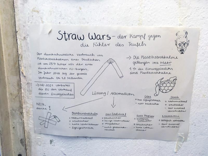 Alternativen zu Plastik Strohhalmen