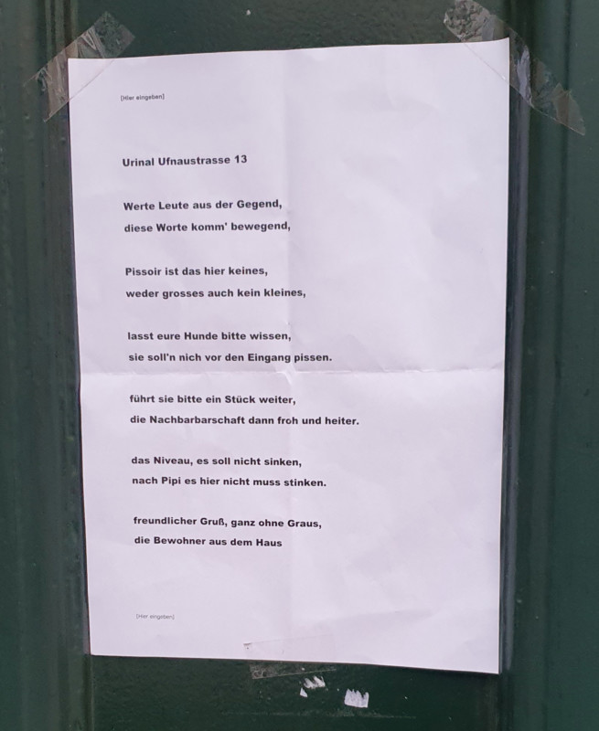 urban poetry berlin