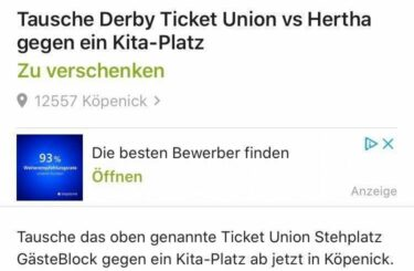 derby ticket union hertha