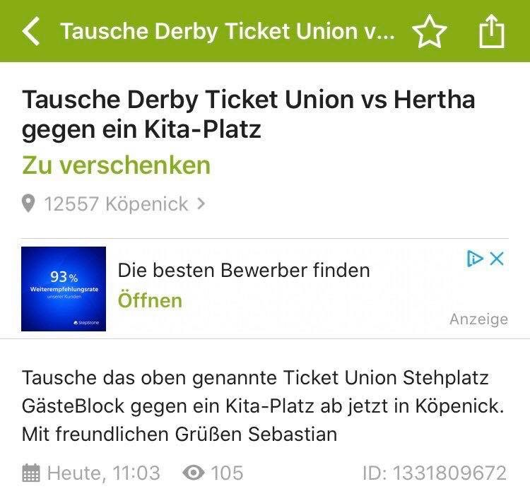 derby ticket union hertha