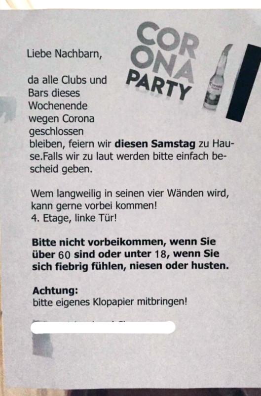 Corona Party Berlin