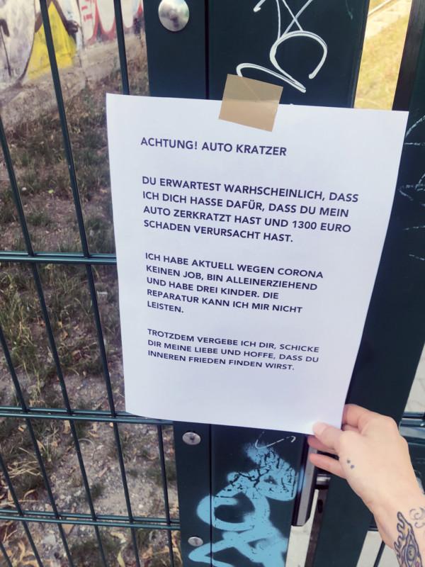 Auto zerkratzt Berlin