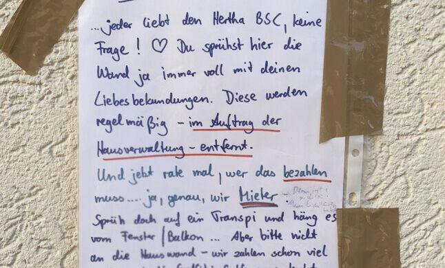 Hertha BSC Graffiti